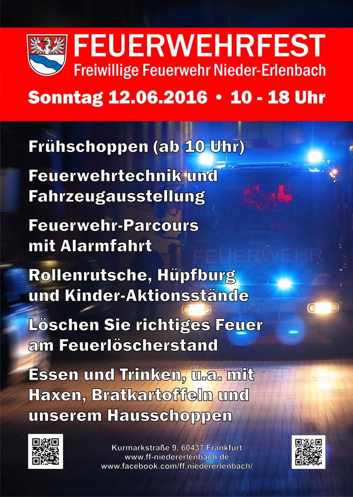 Feuerwehrfest Flyer 2016