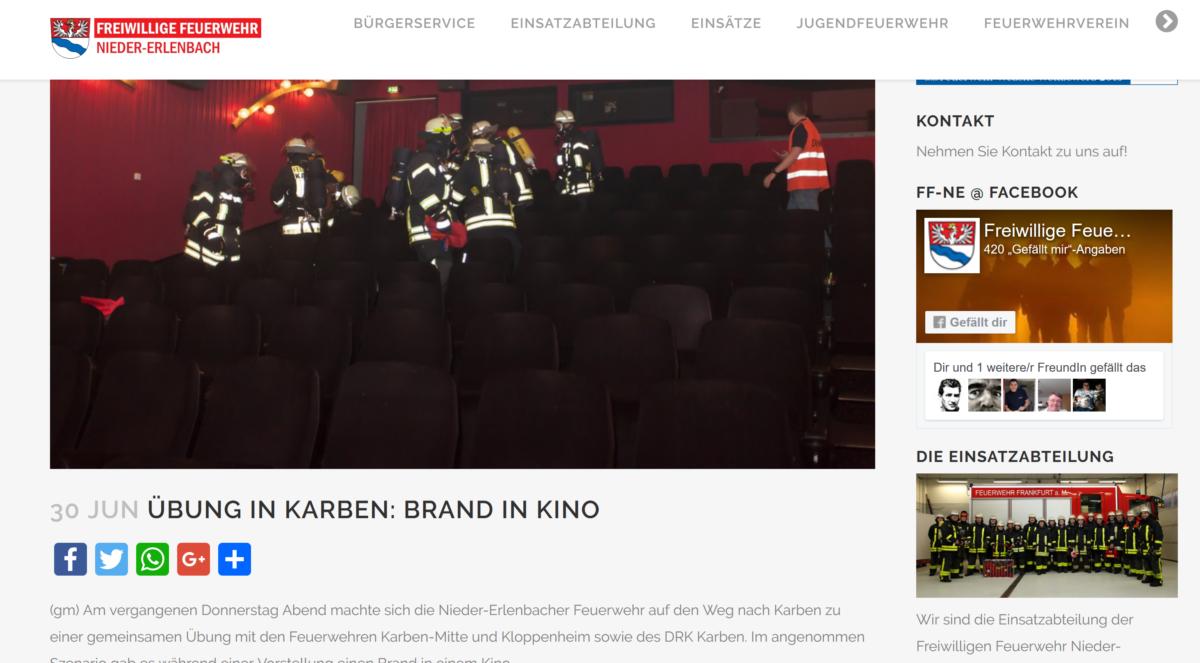 Die neue Internetseite