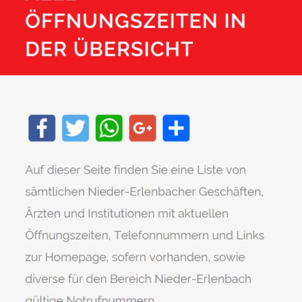 Teilen auf Facebook, Twitter, Google+ und mit WhatsApp