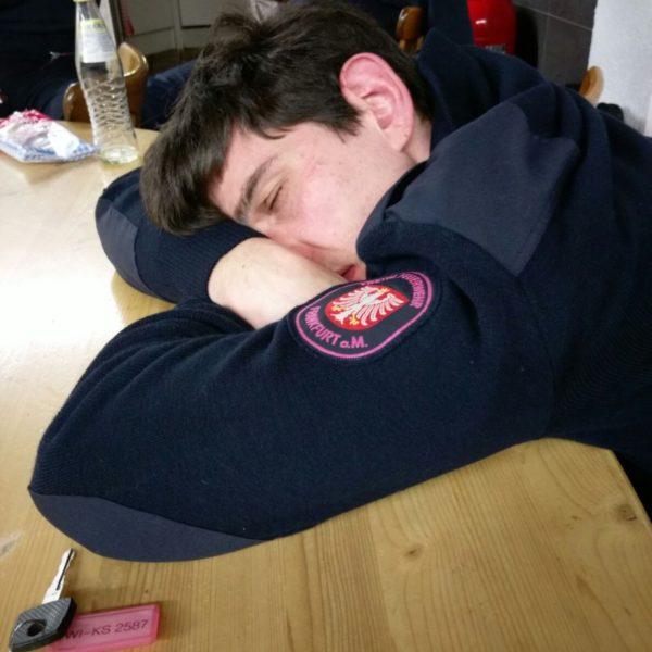 Da ist jemand ein wenig müde...