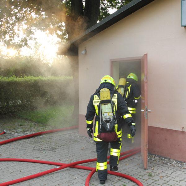 Atemschutzübung am Schützenhaus 24.08.2017