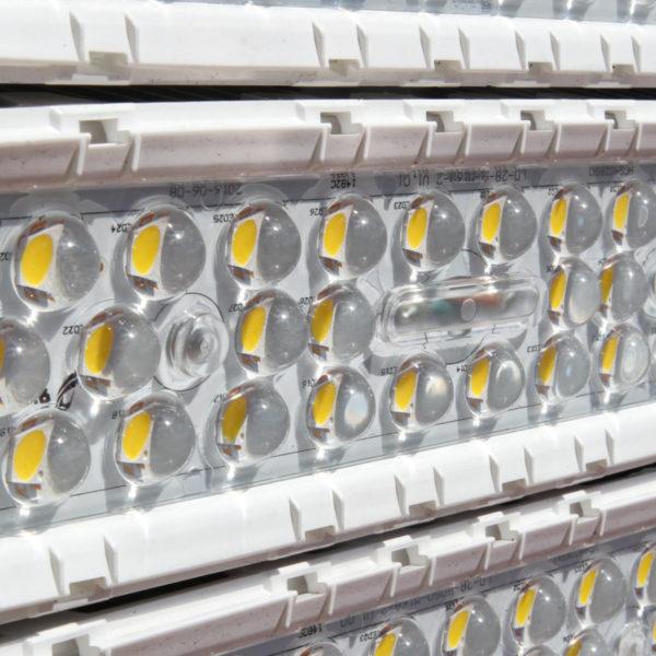 Nahaufnahme der LED-Panels.