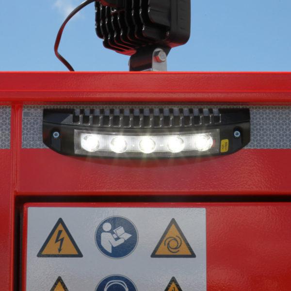 Diverse Umfeldlichter können vor dem Einschalten bereits batteriegespeist für Licht sorgen, was den Aufbau bei Dunkelheit vereinfacht.