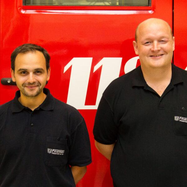 Unsere neue Wehrführung mit Bernhard Hahn (links, Wehrführer) und Thomas Lohmann (Stellvertreter)